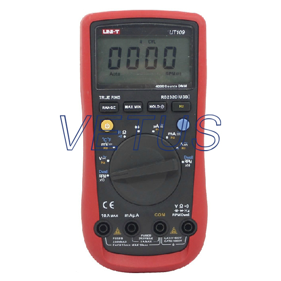 UNI-T UT109 UT-109 high technology auto range digital multimeter brands with Frequency 10Hz - 1MHz uni t ut70b lcd digital multimeter auto range frequency conductance logic test transistor temperature analog display