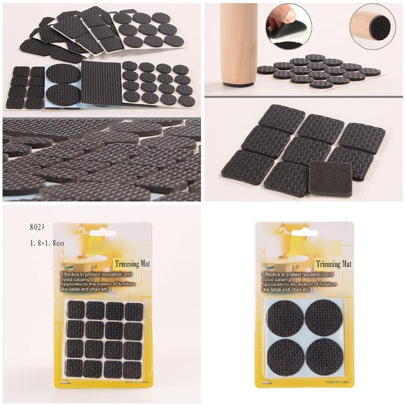Multifunction Furniture Protection Pad Rubber Self Adhesive Anti-Skid Floor Scratch Protector Pads Hot Sale 2 sets lot furniture square shape foot skid glide slide pad nail protectors 50pcs
