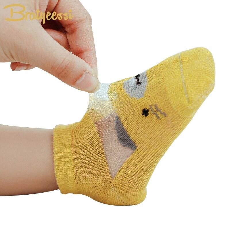 Детские носки с забавными мультяшными рисунками летние сетчатые детские носки Дети лодыжки Длина хлопок унисекс детские вещи для новорожд...