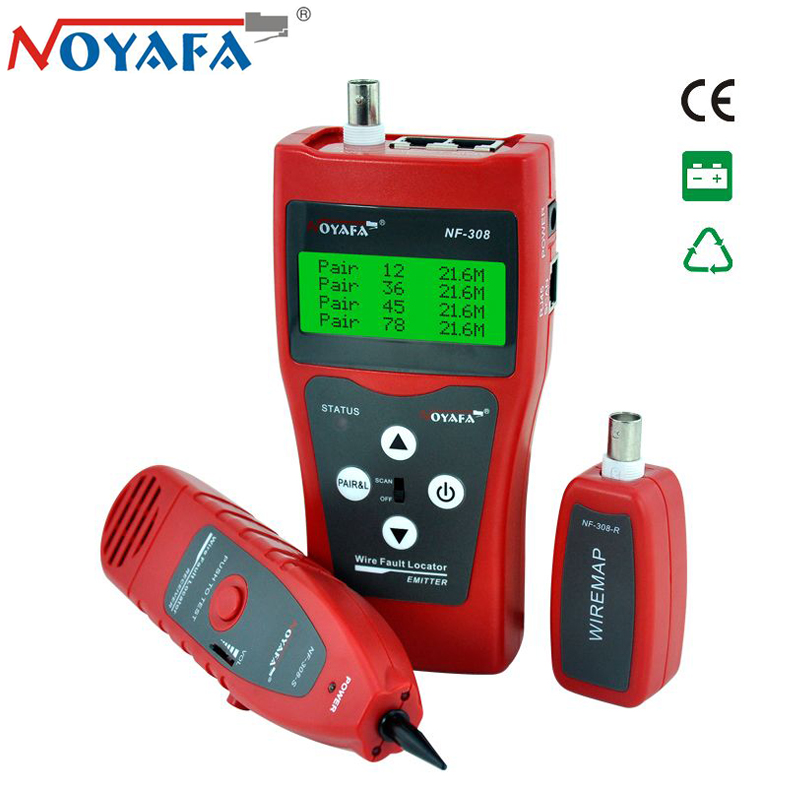 Original Noyafa NF 308 LAN Network Cable Tester Telephone Wire Tracker for Cat5e Cat6e RJ45 BNC RJ11 Line Finder Tone Tool Kit-in Networking Tools from Computer & Office    1