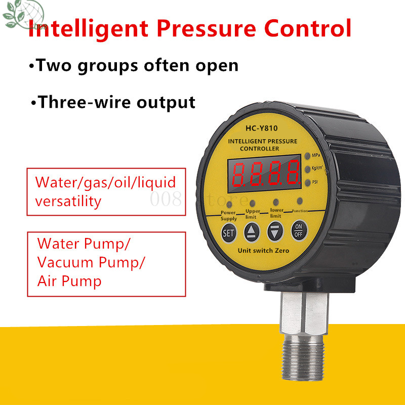 Digital Shock Resistant Magnetically Assisted Contact Water Pressure Gauge 0-1 6 0 6 40 MPa Vacuum Meter Controller