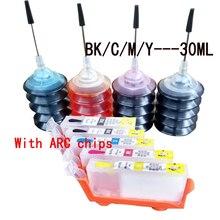 5x многоразового canon 520 521 картридж для PIXMA MP 540 545 550 558 560 568 620 630 640 640R 648 принтер, с 120 мл чернила краски