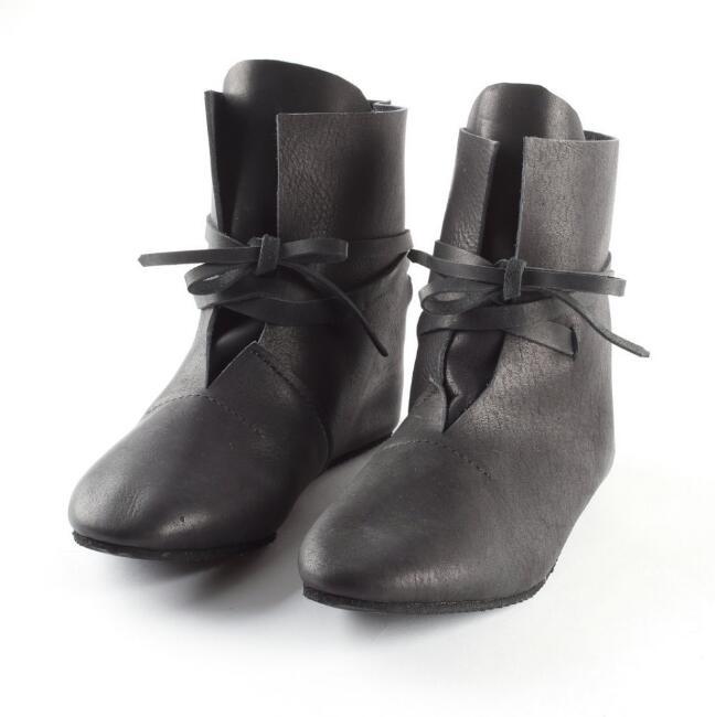 Cosplay bottes viking médiéval tudor cosplay accessoire chaussures Festival Larp chaussures bottes pour hommes femmes