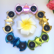 200pcs/lot Electroplated batman Fidget Hand Spinner Gyroscope ADHD EDC Anti Stress Relief Autism Kids Toys DHL Free