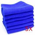5 PC/LOT 30X30 CM Azul Suave Y Absorbente Paño de Lavado de Car Care Auto Limpieza de Microfibra Toallas Envío Gratis