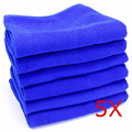 5 PC/LOT 30X30CM Blue Soft Absorbent Wash Cloth Car Auto Care Microfiber Cleaning Towels Free Shipping