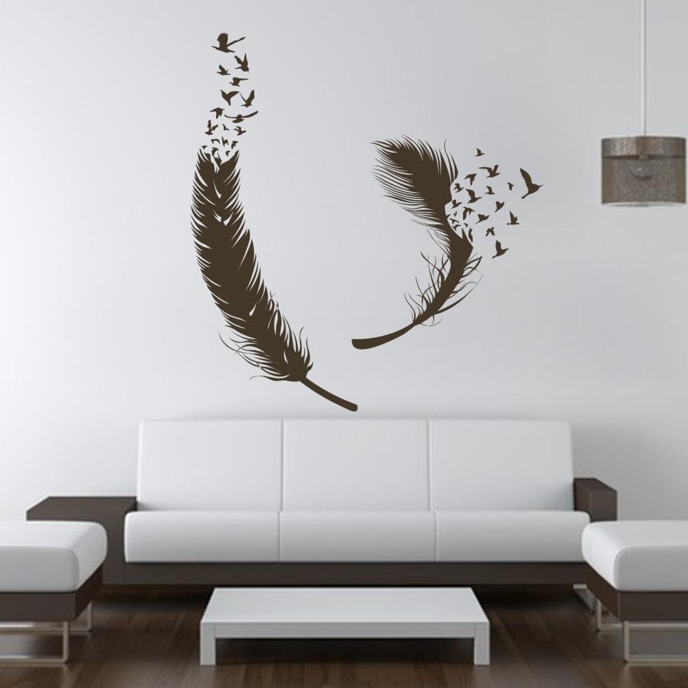 Birds Of Feather Wall Decals Vinyl Decal Housewares Art
