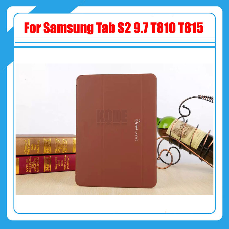 3 in 1 , PU Leather Case Stand Tablet Cover Case For Samsung Galaxy Tab S2 9.7 SM-T810 T810 T815 + Screen Film + Stylus pu leather case cover for samsung galaxy tab 3 10 1 p5200 p5210 p5220 tablet