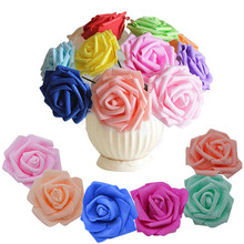 20 Pz/lotto 6 cm Capolino Fiori Artificiali Decorazioni di Nozze In Schiuma PE Rose FAI DA TE Flores Scrapbooking Corona Garland Home Decor(China)