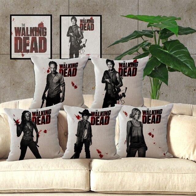 Poszewki na poduszki z The Walking Dead - aliexpress