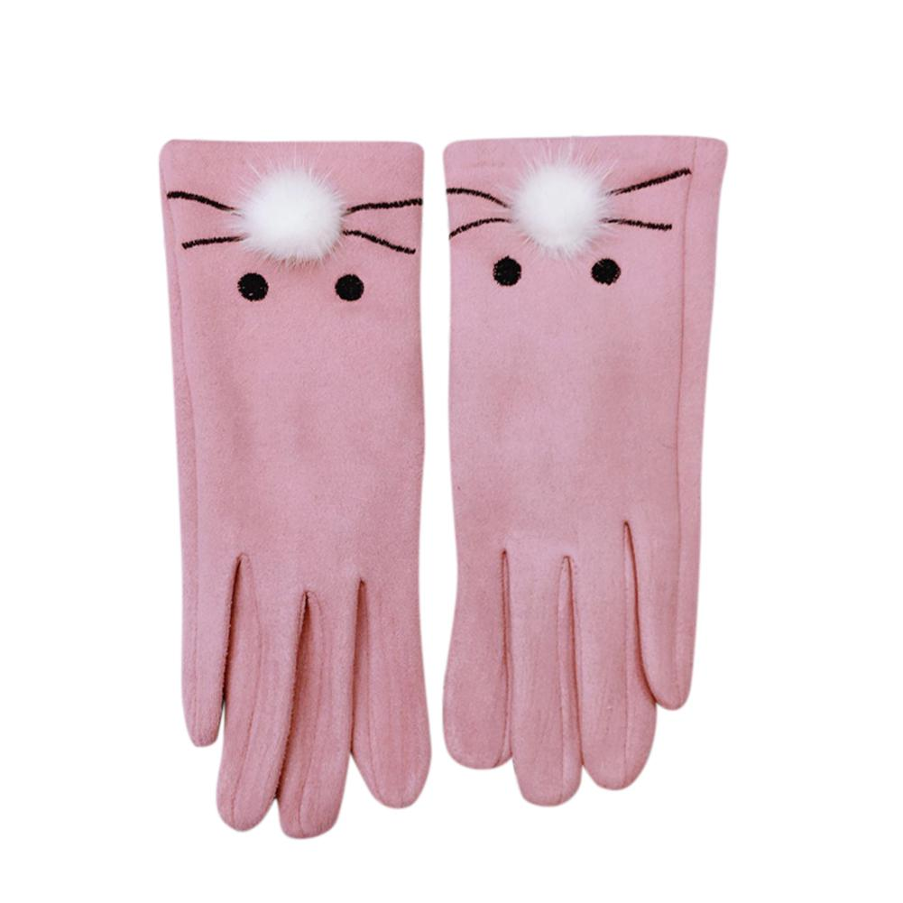 Gants Femme Hiver Winter Gloves Girls Cute Mitten Winter Gloves Women Fingerless Rabbit Gloves Female Luvas De Inverno C8110 Apparel Accessories
