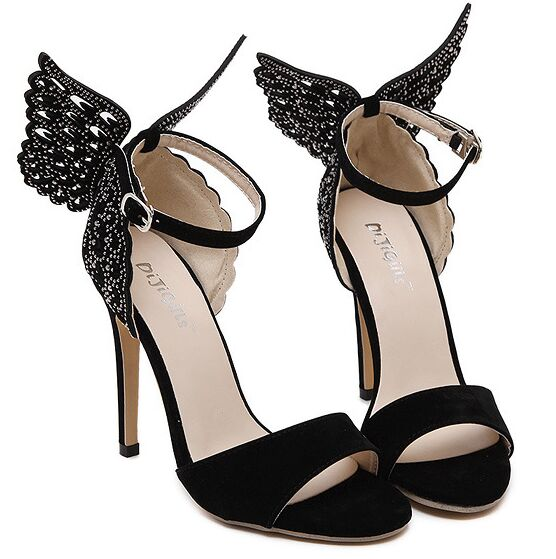 ad48f4bb9785 Size 4~9 New Black Butterfly High Heels Women Pumps 2016 Fashion Sexy  Summer Women Shoes zapatos mujer (Check Foot Length)