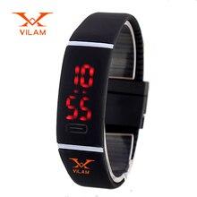 Nouvelle Mise À Niveau Section Étanche LED Bracelet Enfants Femmes Montre Hommes Montre-Bracelet Numérique Sport Choc De Mode Horloge XH104