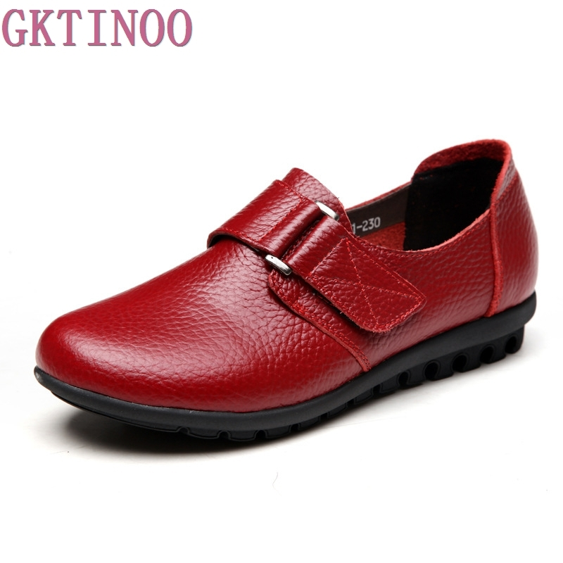 Large size 35-41 Genuine Leather Women Flats shoes woman comfortable Round Toe Soft Leather Ballet Flats Casual Women Shoes comfortable flat shoes ballet flats shoes large size shoes women flats 229 120 euro size 35 42