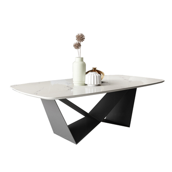 Natural marble Stainless steel Coffee Table Living Room Home Furniture minimalist modern rectangle mesas de centro table basse mc2102b modern living room furniture marble top tea table coffee table with drawer