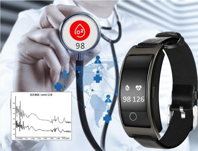 Wristband Blood Pressure Heart Rate Monitor Pedometer Smart Band 4