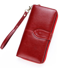 2019 Leather Women Wallet Purse Female Luxury Cow Business Womens Handbag Pouch Cellphone Bag