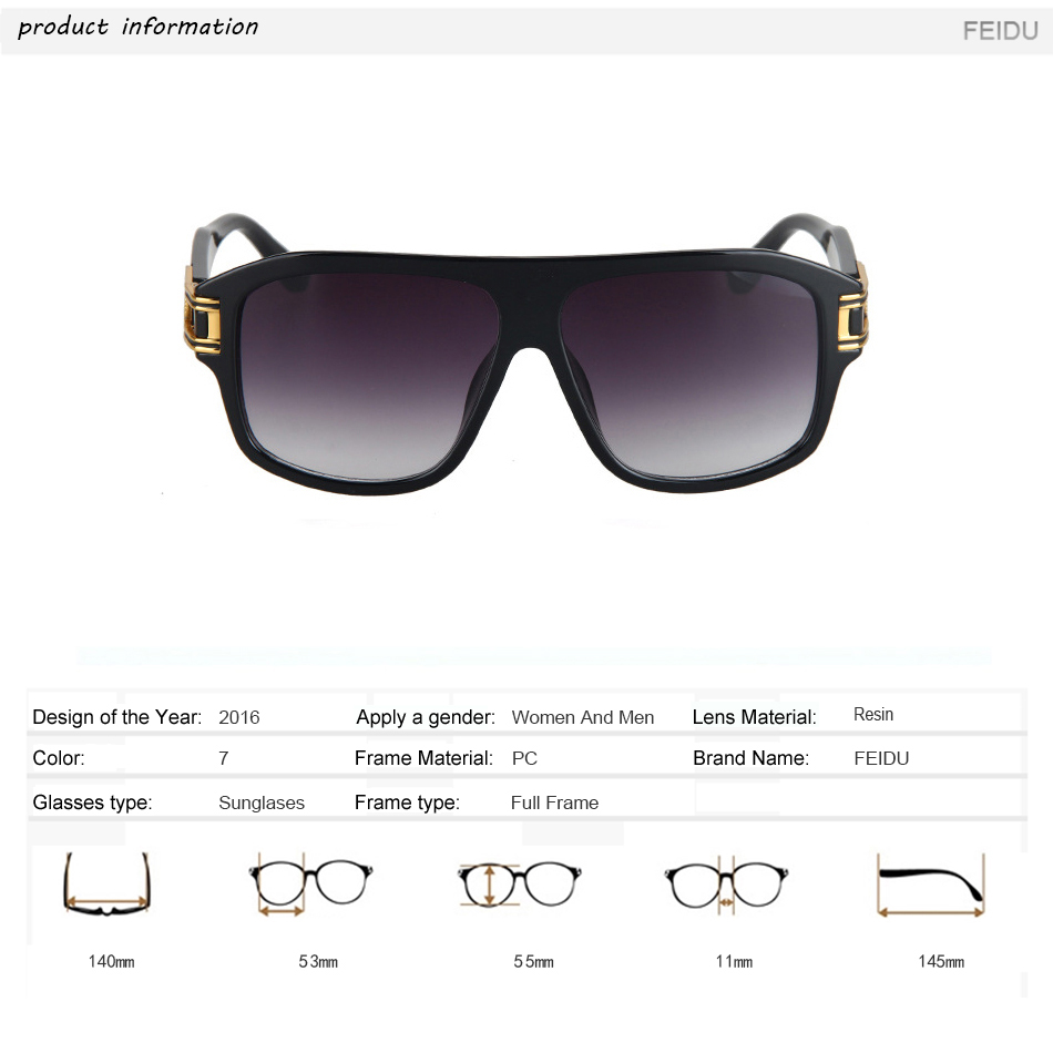 56ed7ece2da FEIDU Fashion Men Square Sunglasses Brand Designer Sunglasses women Vintage  Big Frame Glasses Hollow Legs Oculos de sol feminino-in Sunglasses from  Apparel ...