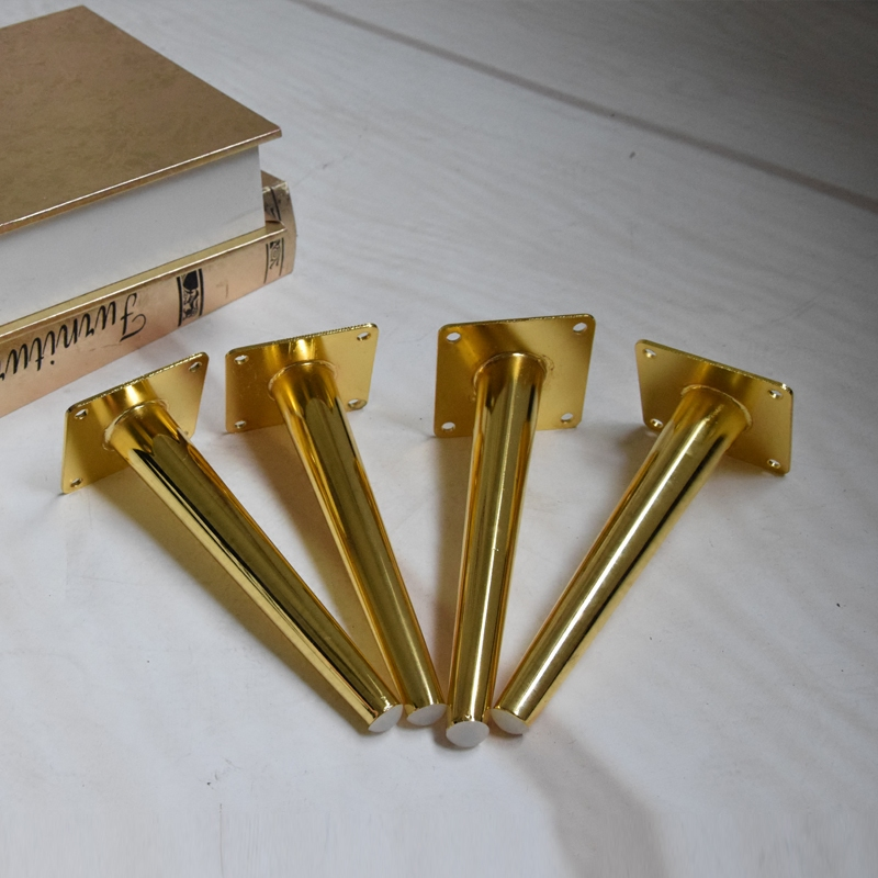 4pcs Golden Stainless Steel Furniture Legs 20cm Tables Cabinets Feet Sofa Bed TV Cabinet Couch Dresser Armchair Legs