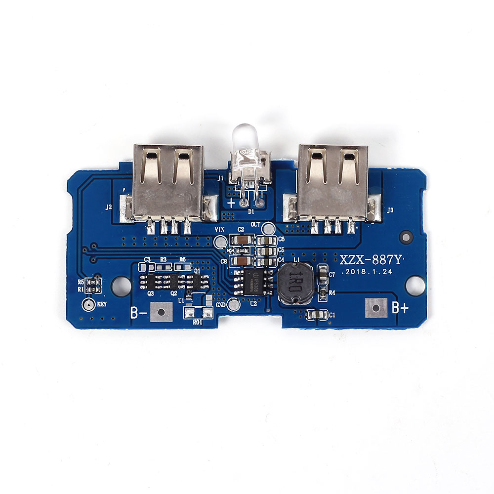 5v 2a Power Bank Charger Module Charging Circuit Board Step Up Boost 9v Negative Supply Units Electronic Projects Circuits Dual Usb Output 1a Inputusd 123 Piece