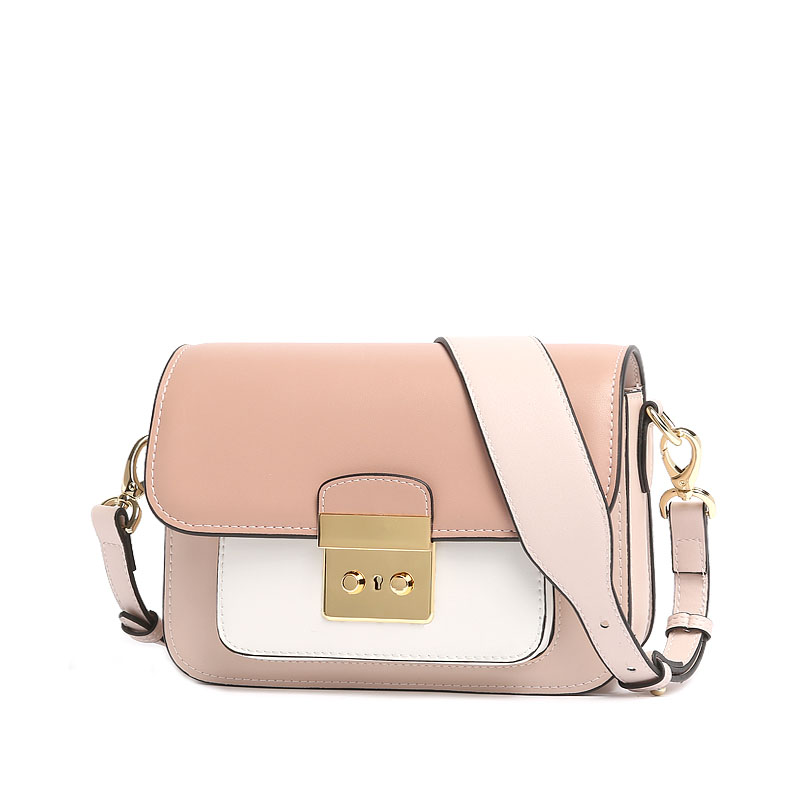 Europe and the United States fashion ladies hit color leather broadband small square package New leather shoulder Messenger mini europe and the united states new leather cross section square female package two layers of leather fashion shoulder diagonal zip