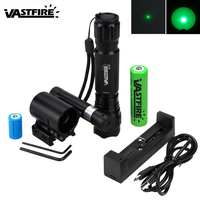 Tactical Hunting Red Laser Dot Lazer+25mm Rail Rifle Scope Mount+Q5 T6 XPE Weapon Gun Light+18650+CR2+usb Charger+Remote Switch