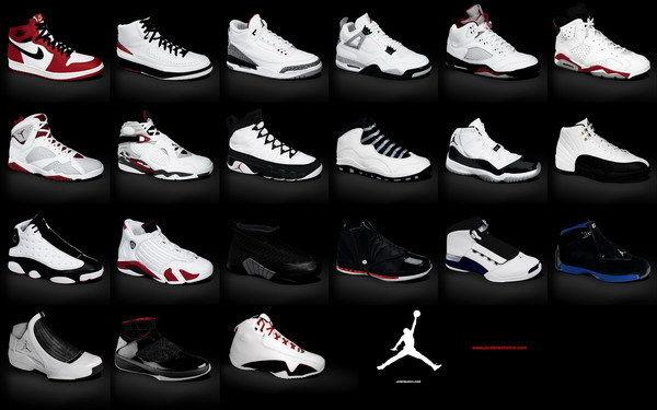 air jordan shoe history poster