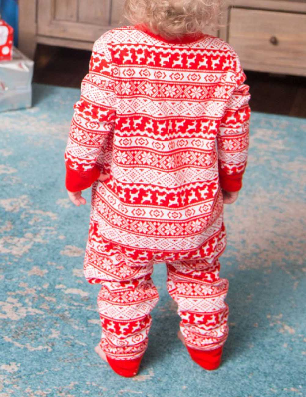 2018 New Christmas Pajamas Set Women Men Baby Kids Family Plaid Pyjamas Kids Photography Clothes Set