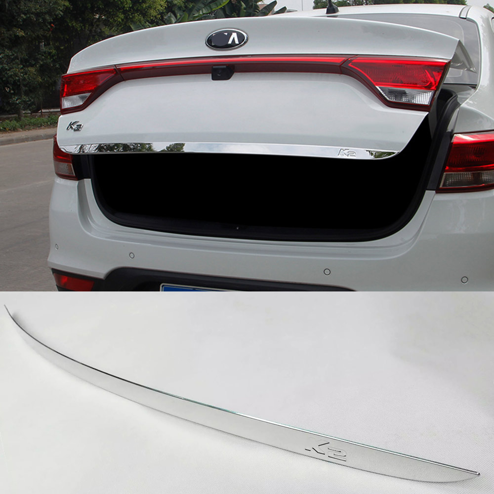 IMTFOO ACCESSORIES FOR KIA RIO K2 2017 REAR DOOR TAILGATE TRIM TRUNK LID MOLDING STICKERS CAR STYLING image