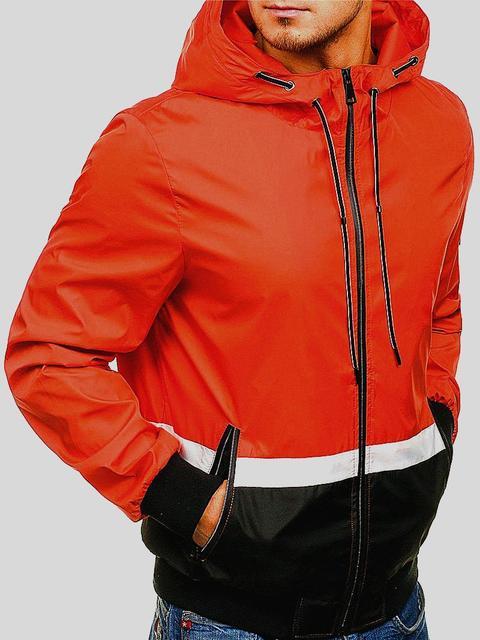 XingDeng outdoor Long Sleeve Hoodies Streetwear Mens Zip Casual Slim Pocket Fit Jacket Male plain color recreational cap Coat