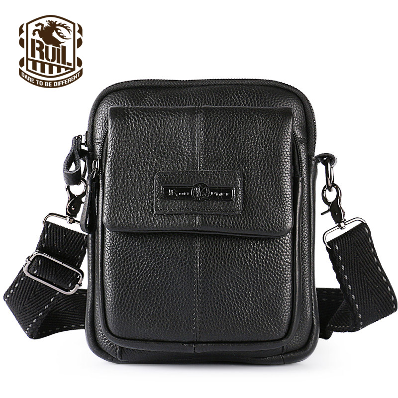 ФОТО Ruil casual men bag leather handbag Messenger bag men leather shoulder bag Multi-functional new handbag