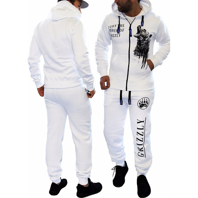 Zogaa 2019 Men Tracksuit 2 Pieces Hooded Sweatshirts And Pants Matching Set Outdoor Casual Sportswear Long Sleeve Men Sweat Suit