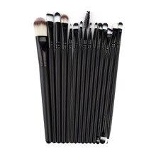 100% New 15Pcs/Set Make Up Brushes Kit Eyeshadow Eyeliner Mascara Eye Brush Tools 2016 Hot
