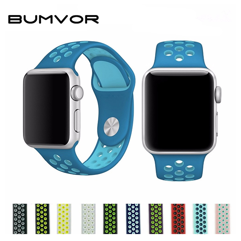 BUMVOR Hot Sale Sport Silicone Band Strap For Apple Watch 40/44/38/42MM Bracelet Wrist Watch Watchband For Iwatch 5/4/3/2/1 +box