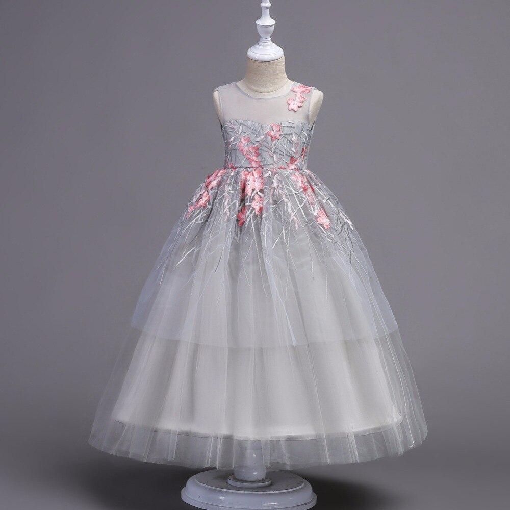 a4daca22e Flower Girls Dress Baby Girls Princess Formal Birthday Pageant Holiday Wedding  Bridesmaid Gown Ball Teenager Girl
