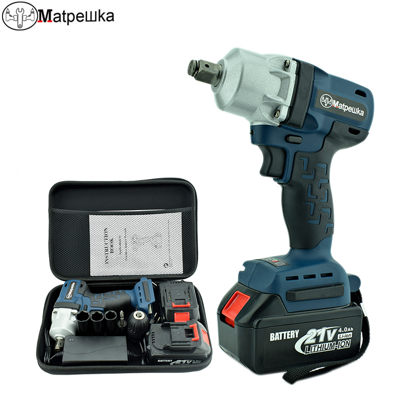Cordless Electric Wrench 21V Lithium Battery Brushless Impact Electric Wrench 4.0Ah Industrial Grade Rechargeable Power Tools 1pcs industrial grade long ball hex wrench hand tools 12mm