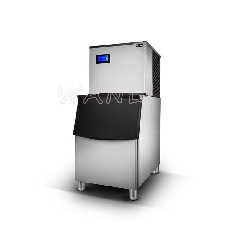 220V Commercial Ice Machine Large Tea Shop 200 Kg Large Output Automatic Large Capacity Ice Machine Ice Maker
