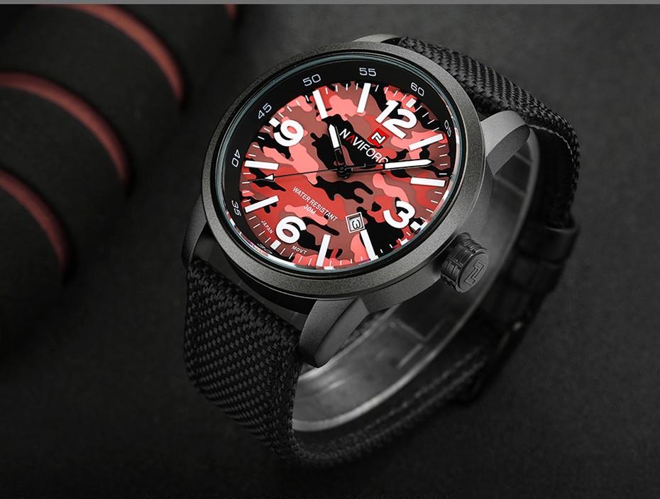 2017 Nouveau NAVIFORCE Hommes Quartz Sport Militaire Montres Hommes De Luxe de Marque De Mode Casual Montre-Bracelet Relogio Masculino Homme Horloge 13