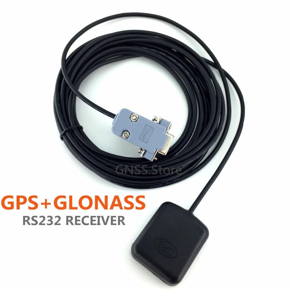 free shipping 5V rs232 DB9 RS-232 GPS glonass receiver Antenna ublox8030 Gnss Chip Module Design,NMEA0183.