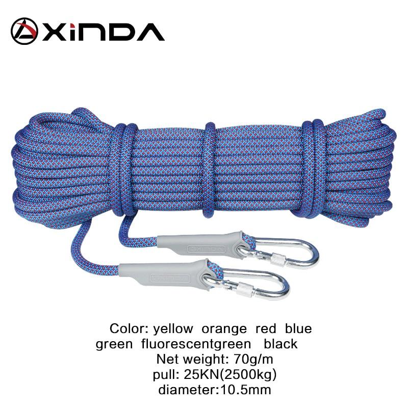 10.5mm Rock Climbing Rope Emergency Mountaineering Cord 25KN Yellow 10m