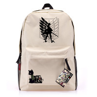 Anime Attack On Titan Cosplay Backpack Male And Female Students Large Capacity Leisure Backpack Child Birthday