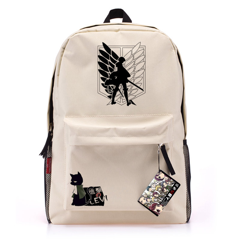 Anime  Attack on Titan cosplay backpack male and female students large capacity leisure backpack child birthday gift anime death note cosplay anime backpack male and female student bag travel backpack