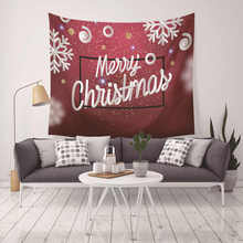 Hippie Merry Christmas Printed Macrame Wall Hanging Mandala Tapestry Snow Man Bedspread Blanket Home Decoration Accessories