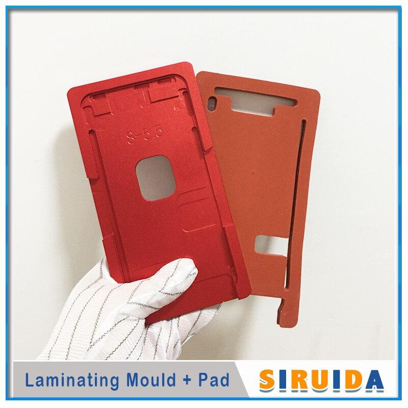 Lcd внешняя стеклянная линза Выравнивающая ОСА УФ клей Плесень Для iphone X XSMAX 5 6 6s 7 7s 8 8Plus lcd сенсорный экран ламинирование