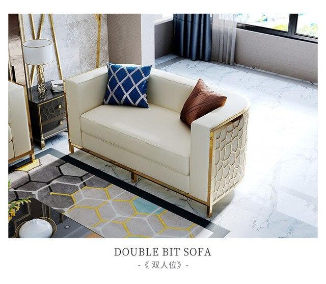 Post Modern Cloth Sofa Model Room Hong