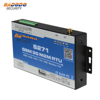 Badodo GSM 2G 3G SMS RTU Controller Alarm Controller 4DI 4AI 4Relay Automation PLC Timer Switch for Light Pump Controller S271