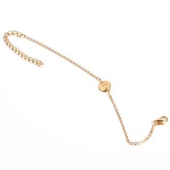 IF ME Fashion Initial Letter Round Charms Bracelet & Bangle for Women Pulseras Capital J K Pendant Chain Name Bracelets Jewelry 4
