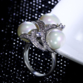 New Latest design ring white pearl Ring Trendy Birthday gift With High quality crystal CZ Nice Ring