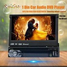 """7 """"una din Pantalla Táctil HD cd reproductor de dvd audio del coche GPS navigator 1din DVD del automóvil 1 Din car audio radio estéreo de audio estéreo"""