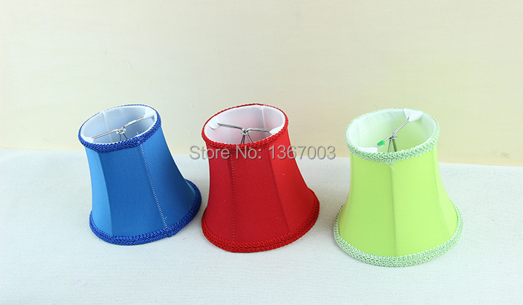 Red, Blue, Green modern light lamps with fabric lamp shades ...